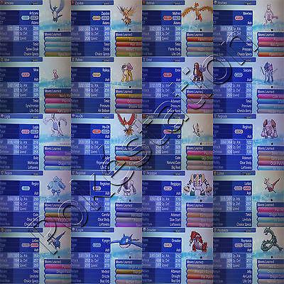All 75 Legendary Shiny Pokemon 6IV Custom Perfect Mewtwo Rayquaza Event Sun Moon