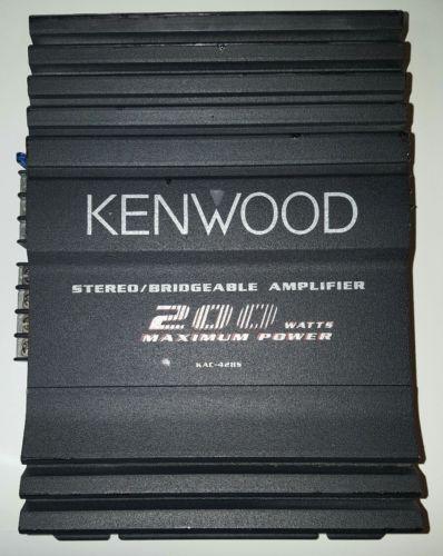 KENWOOD KAC-428S 200 WATT 2 Channel Car Amplifier Stereo/Bridgeable old school