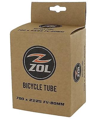 Zol Multipack Road Bicycle Bike Inner Tube 700 x 23/25C LONG PRESTA Valve 80mm
