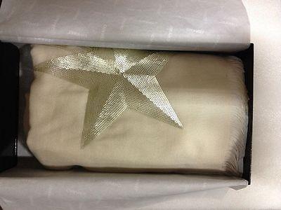 CHANEL Beige Comète Silk & Cashmere-Blend Stole - 100% Authentic NIB