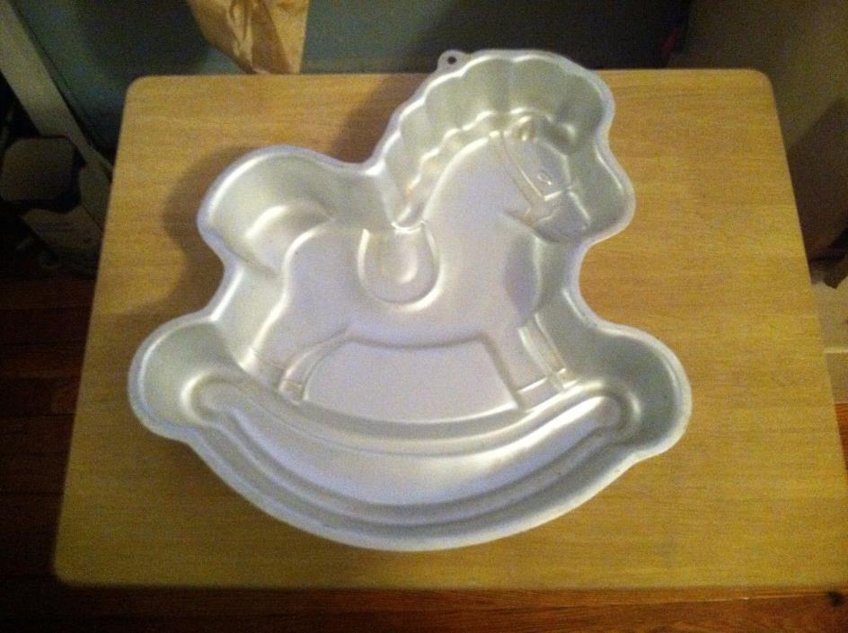 Vintage Wilton Cake Pan 1984 Rocking Horse Mold 2105-2388
