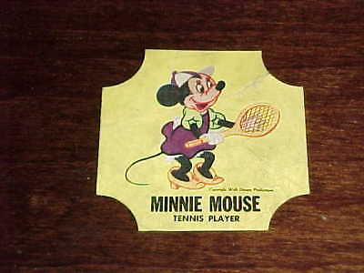 1950 Walt Disney Minnie Mouse Tennis Player Bread Label