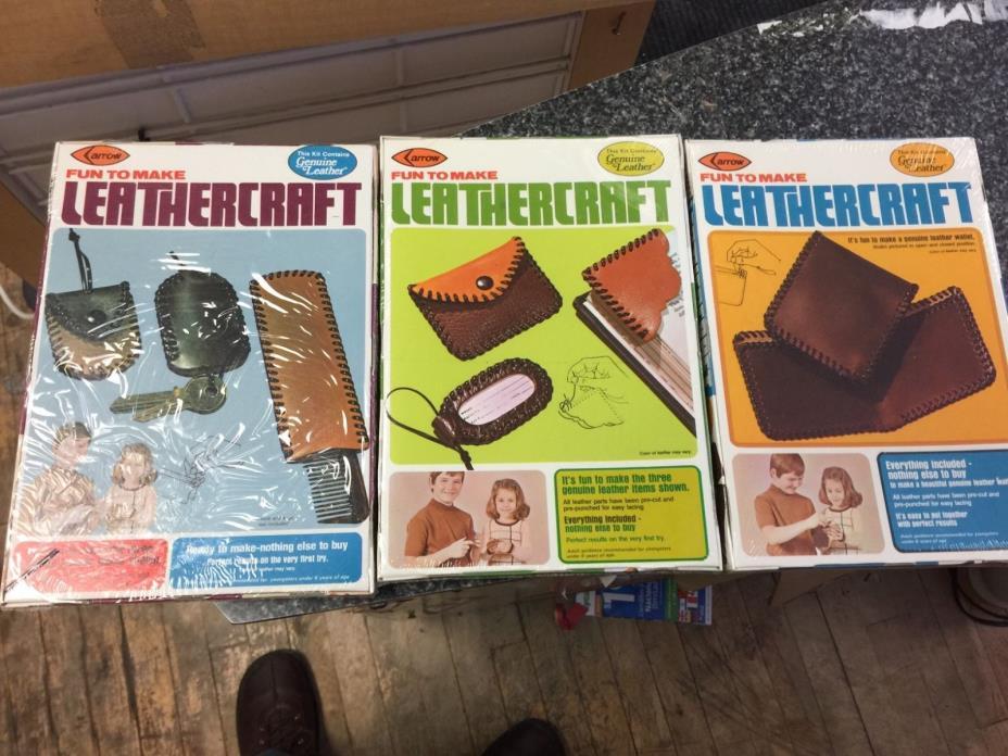 LOT OF 24 Vintage Arrow Leathercraft KitS Sealed New 1976