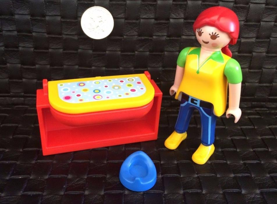 TL-5570 Potty Chair, Changing Table, Mom--PLAYMOBIL Dollhouse Diorama Baby Minis