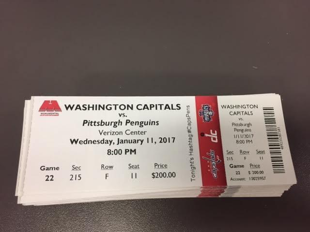 Ovechkin 1000 Point Capitals Penguins MINT Season Ticket 1/11/17 2017 NHL Stub
