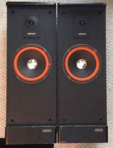 Vintage Advent Prodigy Tower Cabinets With 8