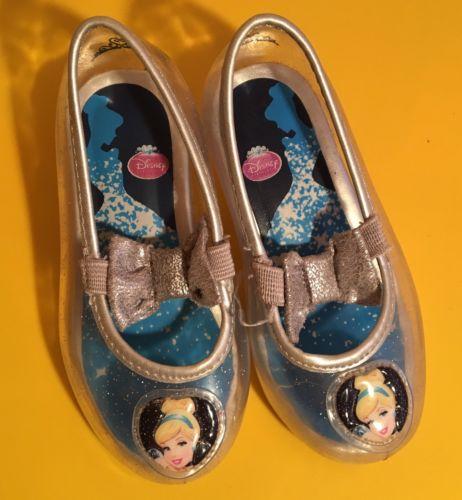 Disney Princess Cinderella Clear Ballet Girls Toddler Shoes Size 5
