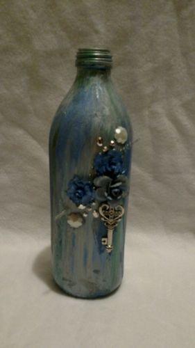 Mixed Media Bottle Up Cycled Art