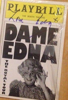 Dame Edna, Australia Actress  Hand Signed  Autograph,  The Royal Tour  Playbill