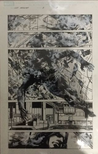 Ultimate Origins, Original Comic Art, Marvel Comics, Guice