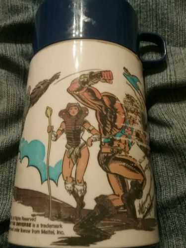 Vintage 1983 Masters of the Universe Thermos (Rare) Mattel,