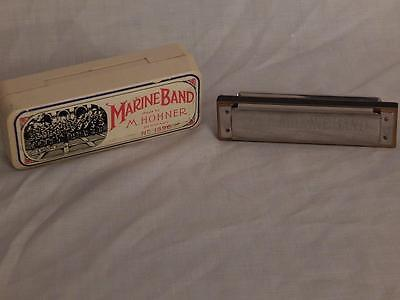 M. Hohner Marine Band Harmonica No. 1896 A440 Key of C Made In Germany