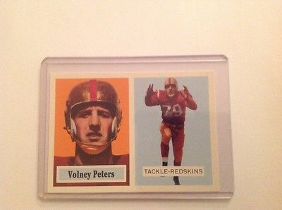 1957 Topps Volney Peters football card