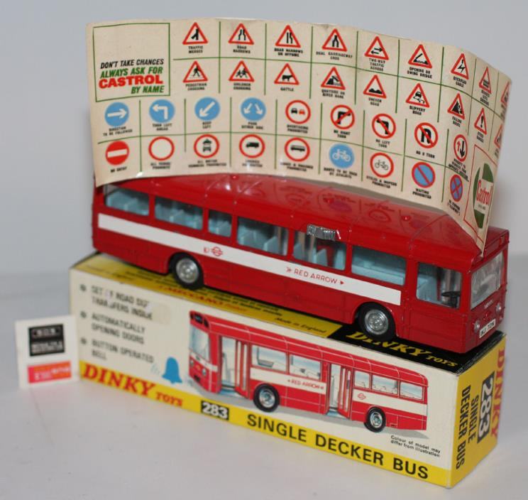DINKY TOYS 283 SINGLE DECKER BUS WITH  DECAL SHEET MIB