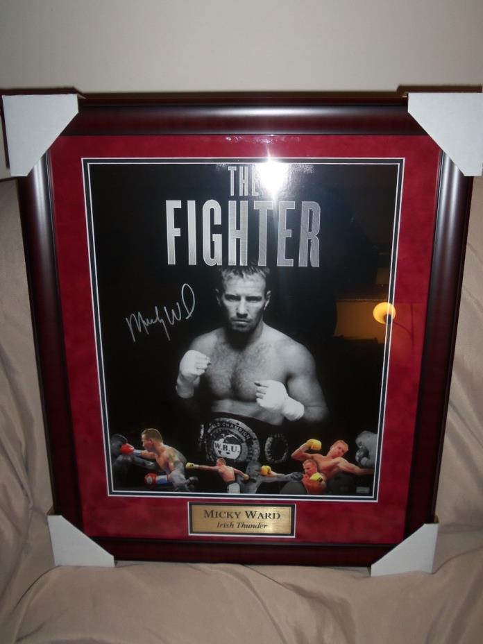 picture of mickey ward  picture is genuine coa on the back of it signed by micke