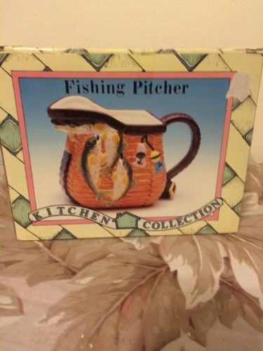 Tea Pitcher (fishing Design). NIB