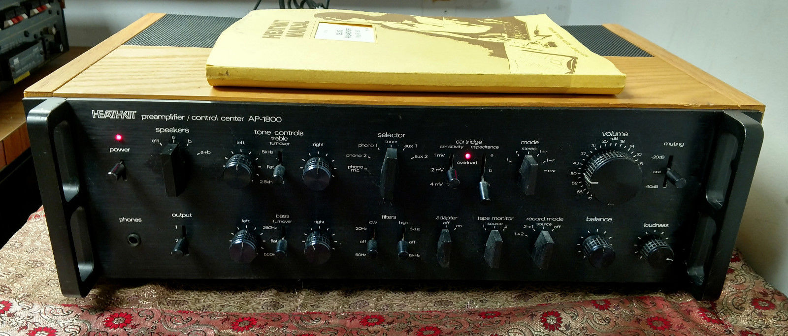 Heathkit AP-1800 Professional Series Preamplifier TESTED SERVICED