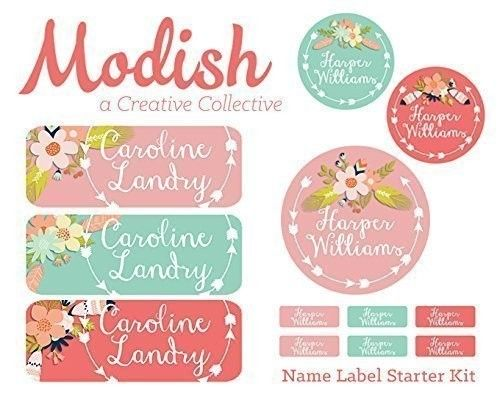 312 Waterproof Name Labels, Girl, School Name Labels, Daycare Name Labels, Camp