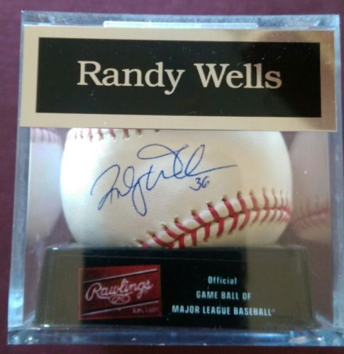Randy Wells signed/autographed baseball, Chicago Cubs pitcher