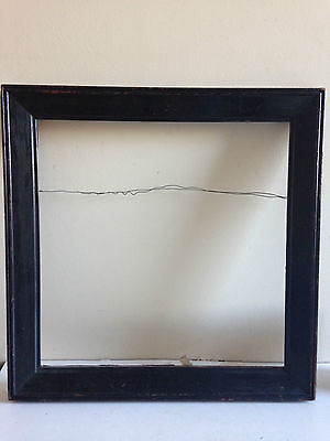 19th C. Antique Ebonized Wood Square Picture Frame Large Square Neoclassical