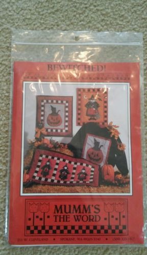 RARE VINTAGE Debbie Mumm Quilt Quilting Pattern Bewitched Witch Black Cat New!