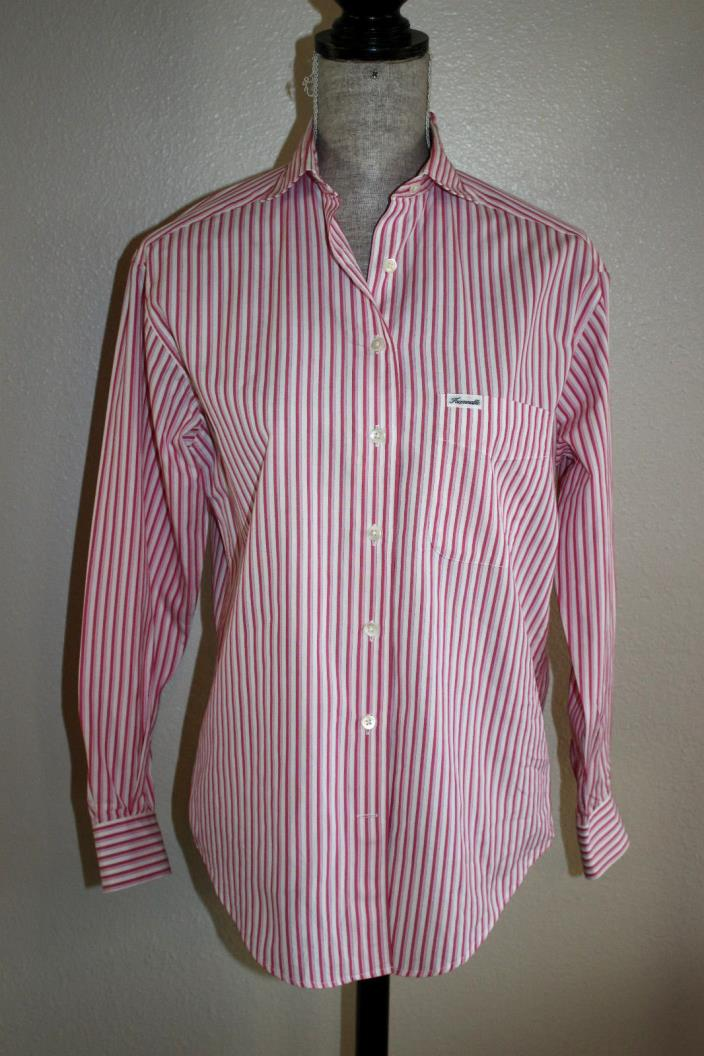Façonnable?? WOMEN'S CASUAL SHIRT STRIPED LONG SLEEVE  PINK SZ:XS
