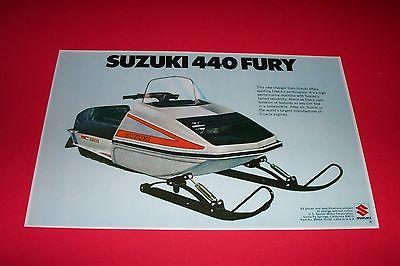 '75 SUZUKI 440 FURY SNOWMOBILE POSTER  vintage 440fury sno-machine