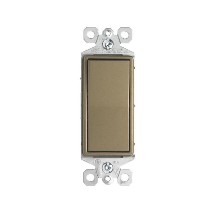 Pass & Seymour TradeMaster 15A 3-Way Decorator Switch, Antique Brass