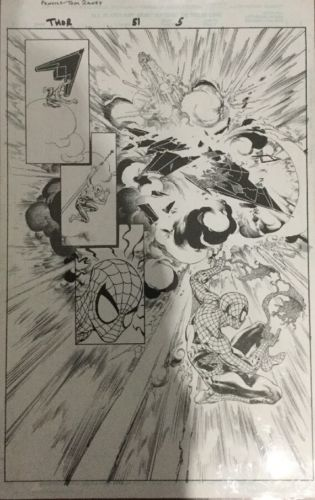 Thor, Original Comic Art, Marvel Comics Scott Hanna/Tom Raney