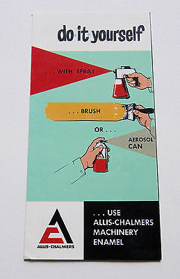 1960's-1970's Allis Chalmers Paint Rust Preventive Paint Thinner Brochure