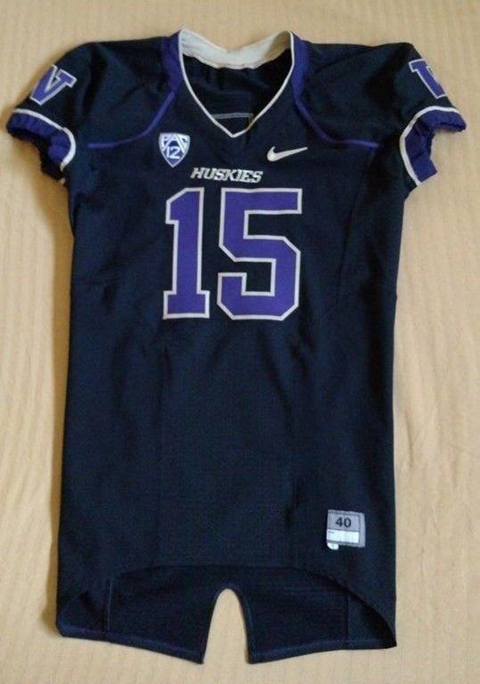 Authentic Game Issued Washington Huskies Blackout FB Jersey ~ Jermaine Kearse!!!