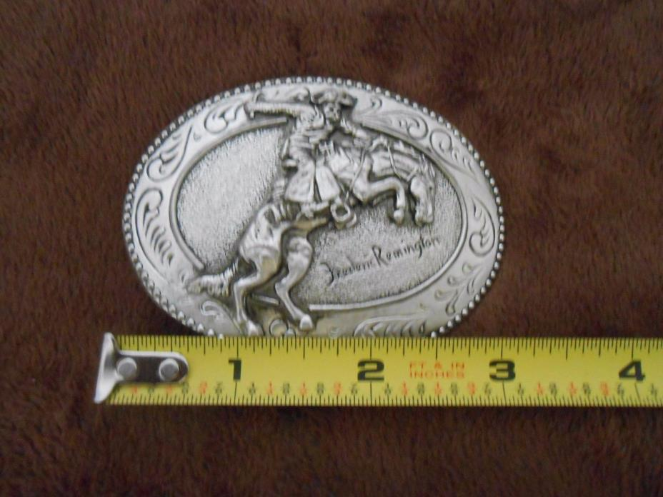 Frederic Remington The Bronco Buster Belt Buckle