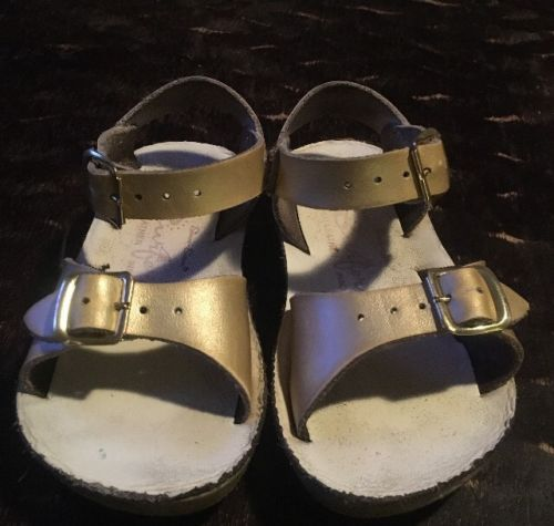 Saltwater Sandals Toddler 6 (sun And Sand Surfer) Gold