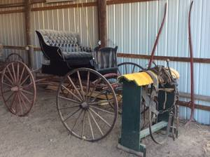 Estate Sale..HORSE DRAWN CARRIAGE and BUCKBOARD, Farm and Home Items (Okmulgee)