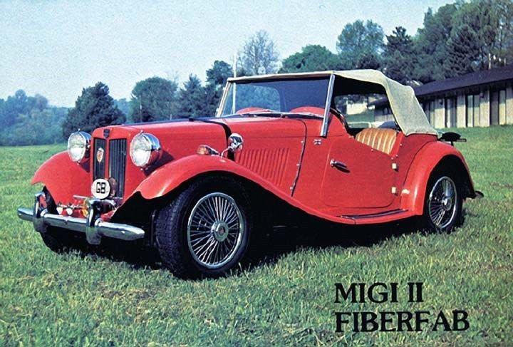 1952 1980 MG TD MiGi II Fiberfab Replica Factory Photo ca6064