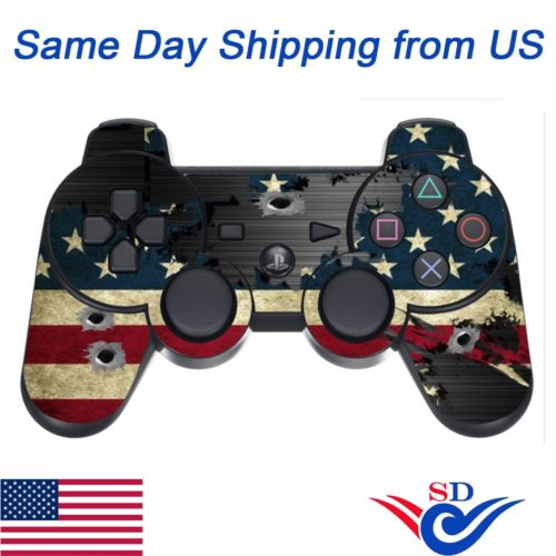 Decal Sticker Protective Skin for Sony PS3 Playstation 3 Controller Stripes