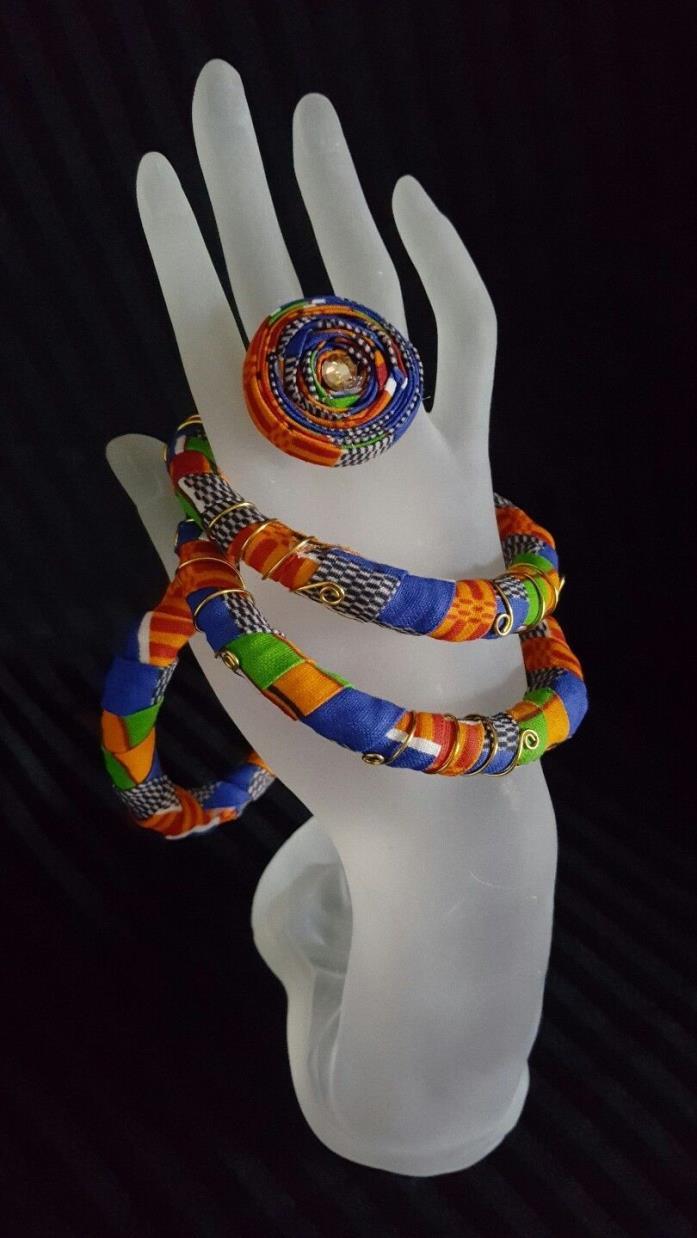 Handmade Bracelet/ /African Bangles/ African Ring set