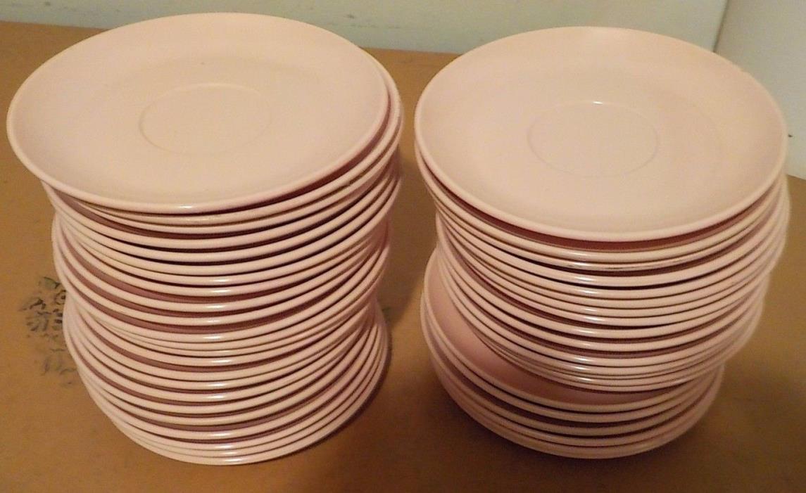 44 VINTAGE MELMAC WINDSOR MELMAC PINK SAUCERS PLATES USED