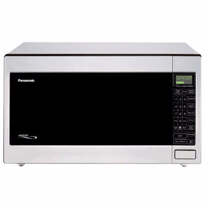 Panasonic 2.2-Cu.ft. 1250-Watt Countertop Microwave Oven 1-Touch Stainless Steel
