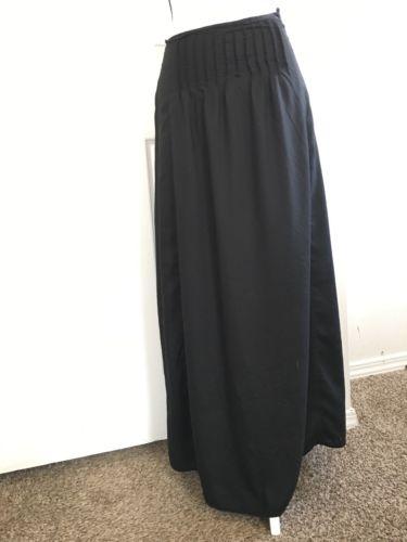 Ann Taylor LOFT Long Black Skirt Size 0