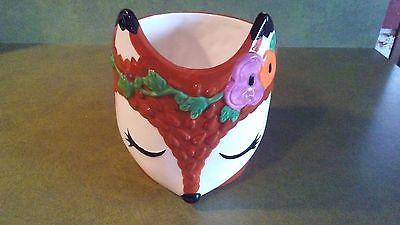Vintage Reindeer Planter Vase Christmas China