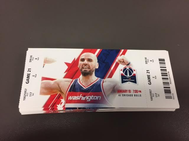 Washington Wizards Chicago Bulls MINT Season Ticket 1/10/17 2017 NBA Stub