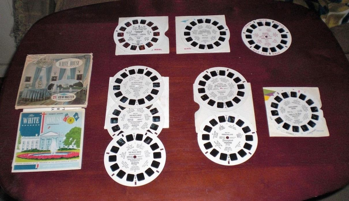 VIEWMASTER REELS  *VINTAGE * MIXED LOT OF NINE  1950s - 1960s