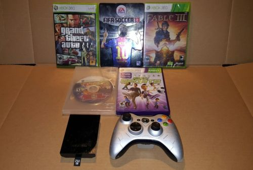 Xbox 360 Gaming Lot : 5 Games, wireless controller & 250GB hard drive