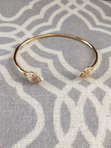 Stella and Dot Eden bangle, bracelet, gold, pave