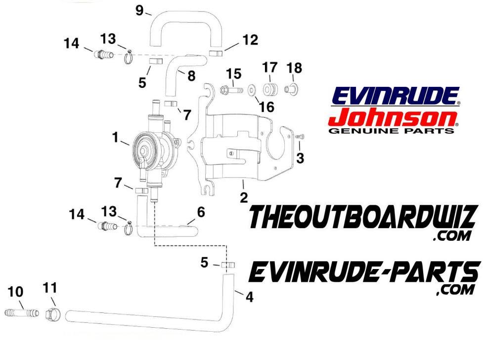 EVINRUDE JOHNSON E-TEC GENUINE OUTBOARD MOTOR OMC PART 5007312 V6 FUEL LIFT PUMP