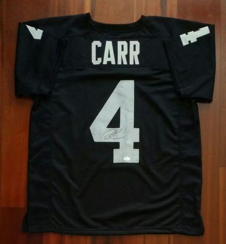Derek Carr Autographed Signed Jersey Oakland Raiders JSA