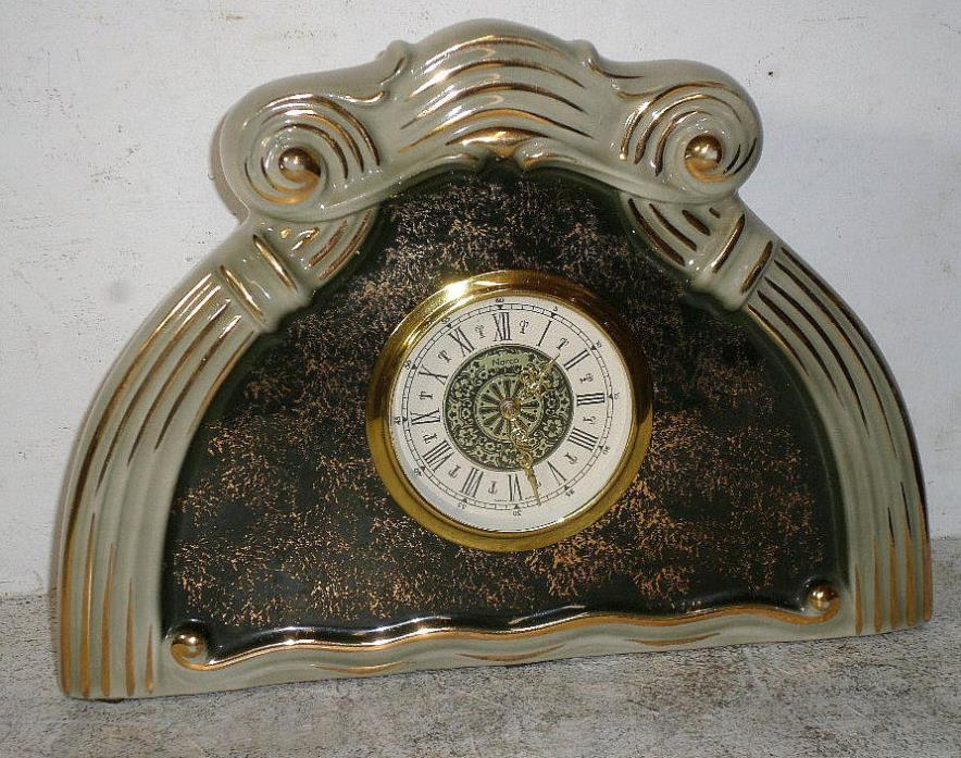 Porcelain Clock With Mechanical Back Winding Movement--No Chips, Nice Finish!!