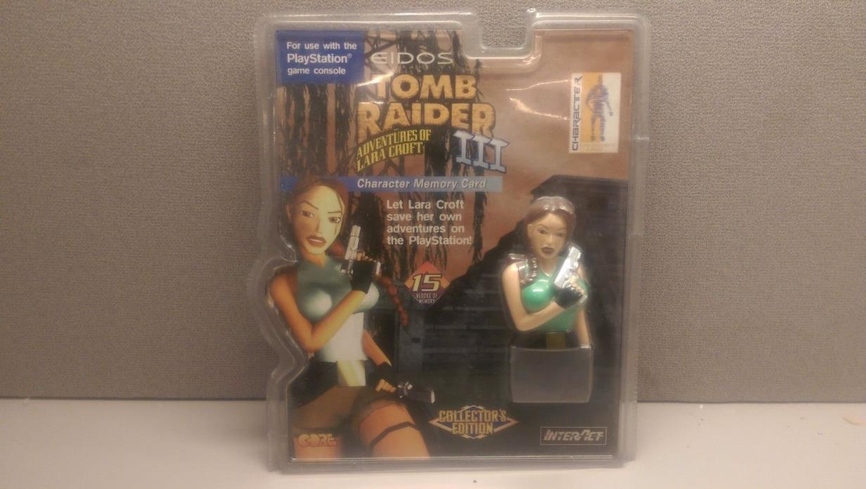 TOMB RAIDER III CHARACTER MEMORY CARD - PS1 - OPENED PACKAGE - FREE US SHIP!