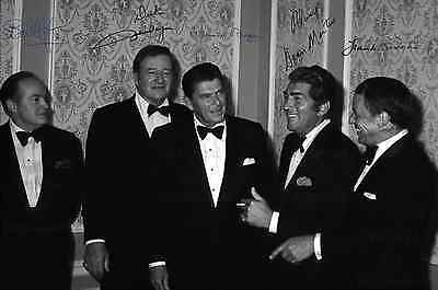Frank Sinatra Dean Martin Bob Hope Ronald Reagan signed Large size 12X8 Amazing